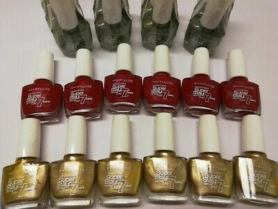 24 x Maybelline Superstay GEL NAIL COLOUR 7 DAY WEAR GREAT COLOURS NEW