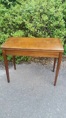 Antique Mahogany Fold Over Card / games Table/hall table
