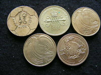 Lot of 5 £2 Two Pound Coins 1986 1989 1995 (2) 1996 all circulated Freepost P267