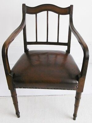 Regency period Mahogany Elbow Chair, circa 1810.