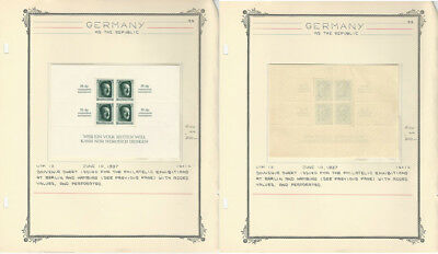 Germany, Postage Stamp, #B104 Mint NH Sheet, 1937 WWII