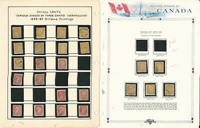 Canada Stamp Collection, Specialized Cancel Lot Early Small Queens, 11 Pages