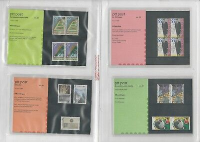 Netherlands Davo PTT Album, Mint NH Stamps & Sets, 18 Hingless Pages, 1986-90