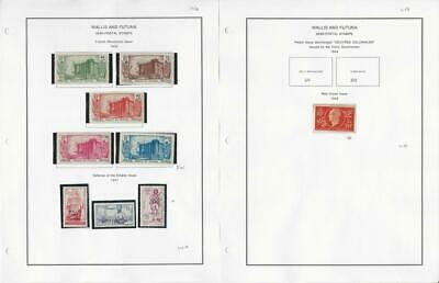 Wallis & Futuna Stamp Collection 1939-44 Semi Postals on 2 Pages, French