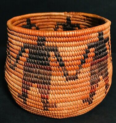 Super California (Probably Mission)Pictorial Basket,Beautiful 4-Color Decoration
