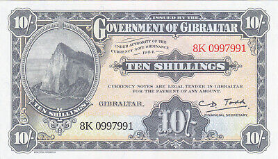 "10 Shillings/50 Pence Unc Banknote From Gibraltar 2018""Celebrates World Tourism"""