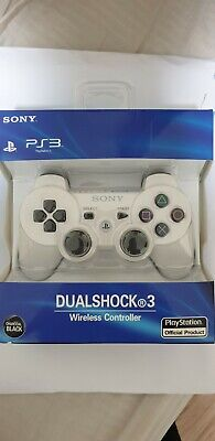 Official Sony Playstation 3 PS3 Controller White Wireless Dualshock