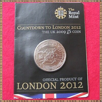 2009 COUNTDOWN TO LONDON 2012 £5 FIVE POUNDS COIN, sealed & unc.