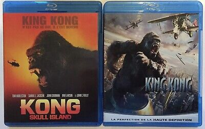 Lot 2 Blu Ray - Kong Skull Island (2017) + King Kong (2005 ) Peter Jackson