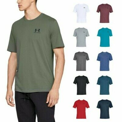 2019 Under Armour Mens Sportstyle Left Chest Logo Charged Cotton T-Shirt UA Top