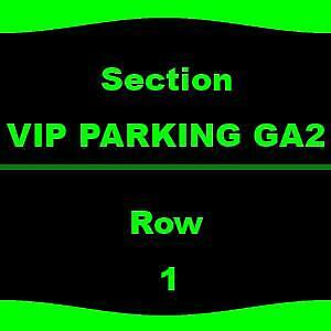 1-1 VIP PARKING Santana & The Doobie Brothers - Parking Passes Only 8/14 Jiffy L
