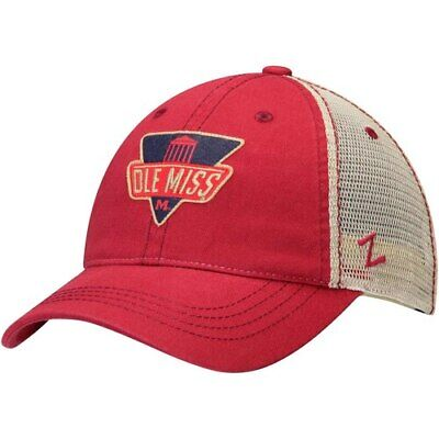 promo code d9057 08c4b Zephyr Ole Miss Rebels Red White Checkpoint Meshback Slouch Trucker  Adjustable