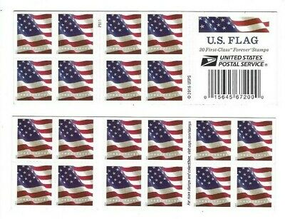 2017 Scott #5161 U.S. FLAG   Book of 20  Forever Stamps MNH
