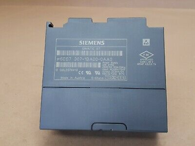 Siemens 6ES7 307-1BA00-0AA0 SIMATIC S7-300 Regulated Power Supply Module