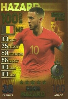 Match Attax 101 2019 Eden Hazard 100 Hundred Club No 185 Mint