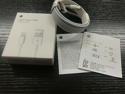 Genuine Apple 2M Lightning USB Data Sync Charger Lead Cable For iPhone 8 7 6 5 X