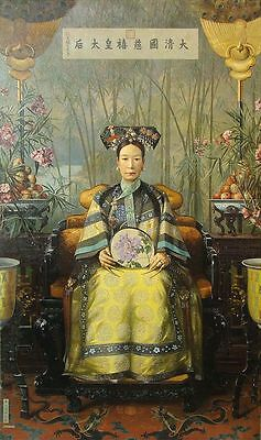 "perfact 24x48 oil painting handpainted on canvas"" the Dowager Empress Cixi""@3165"
