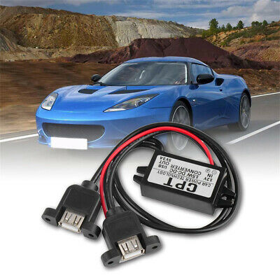 Car DC Converter Module 12V to 5V USB 2.0 Output Power Adapter 1pc Accessory