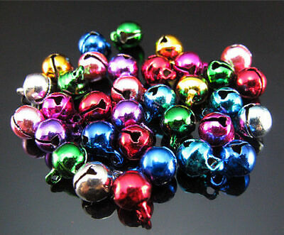 Pendant Findings Copper Mixed color 6mm bell multipurpose Lot Free round 50pcs
