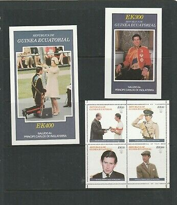 MUH Blocks & Stamps Depicting Prince Charles, Lady Diana & Queen Elizabeth.