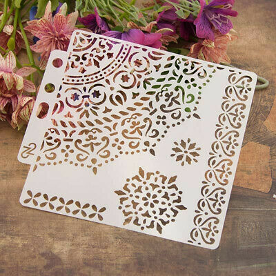 DIY Craft Layering Stencils Template Wall Painting Scrapbooking Stamping Album