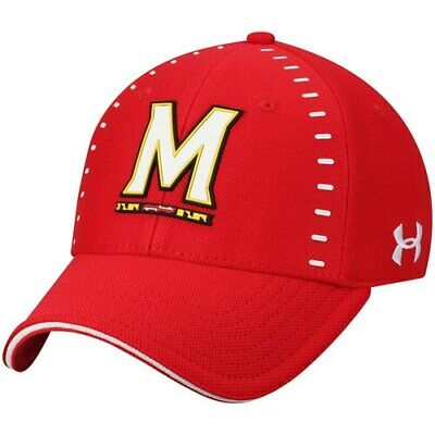 674f12e6a39eff Under Armour Maryland Terrapins Red Sideline Blitzing Accent Flex Hat