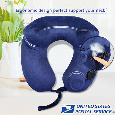 Ultralight Velvet Push Neck Concave Air Pillow Inflatable Cushion Outdoor Travel