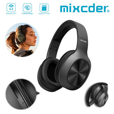 Mixcder Bluetooth 4.2 Wireless Stereo Headphones Foldable Headset Earphones TF