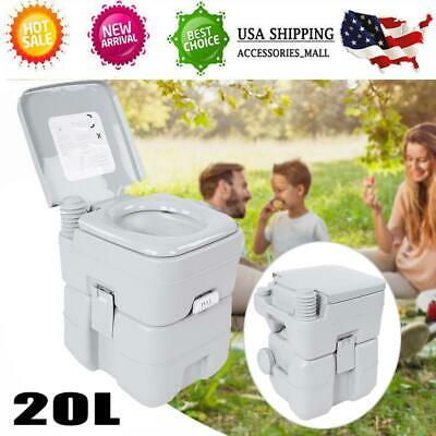 20 L 5 Gallon Portable Toilet Flush Travel Camping Outdoor/Indoor Potty Commode