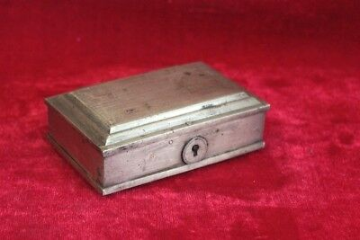 Brass Small Case Box Old Vintage Antique Decorative Collectible PP-25