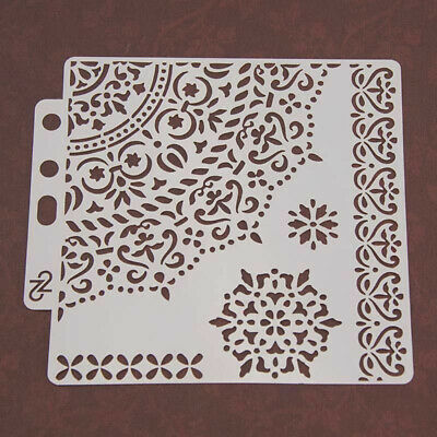 DIY Layering Stencils for Wall Painting Scrapbook Embossing Album Card Template