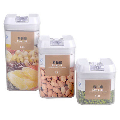 Dry Food Cereal Flour Beans Airtight Flip Storage Container Holder Box Kitchen