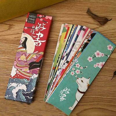 30pcs/lot Kawaii Paper Bookmark Retro Japanese Style Book Marks Stationery A5H2