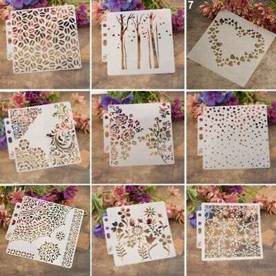 DIY Layering Stencils Template For Walls Painting Scrapbooking Stamping Craft