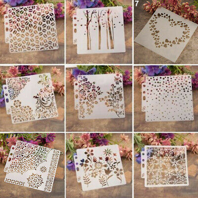 DIY Decorative Wall Painting Embossing Template Layering Stencils Scrapbooking