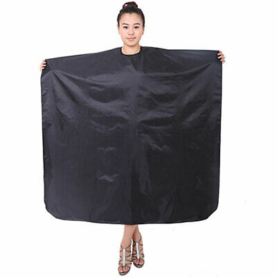 Black Waterproof Salon Hair Cut Hairdressing Hairdresser Barber Cape Gown New