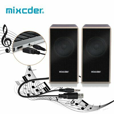 Mixcder Wired USB Soundbar Stereo Bass Speaker Home TV Theater Subwoofer AUX