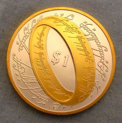 Lord of the Rings Coin Silver Gold Star Wars Trek Sci-Fi Fantasy New Zealand UK