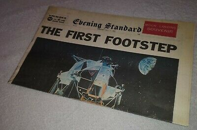 1969 Newspaper Apollo Man Walks on the Moon Landing Science London Buzz Aldrin