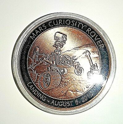 NASA Coin Space Exploration Made from Metal from the Mars Rover Unusual Martians