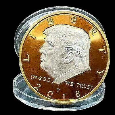 Donald Trump Gold & Silver Coin 2018 President of the United States Unusual USA