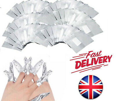 Nail Foil Gel Wraps Polish Remover Art Soak Off Acrylic Removal No Acetone Uk