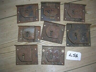 Job Lot Of Antique Steel Drawer Locks  (L56)