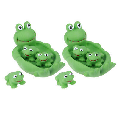 2 Sets Lovely Cartoon Safe Nontoxic Cute Frog Water Bath Toys Bathtub Water Toy