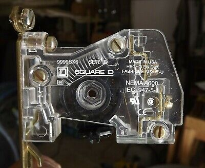 NEW SQUARE D AUXILIARY CONTACT KIT  9999SX6 1 no contact for type s size 00-7