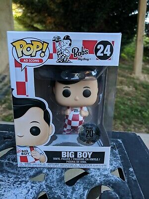 Bob/'s Big Boy Funko Pop #24 w// 20th Anniversary Sticker Ad Icon New Pose Pop!