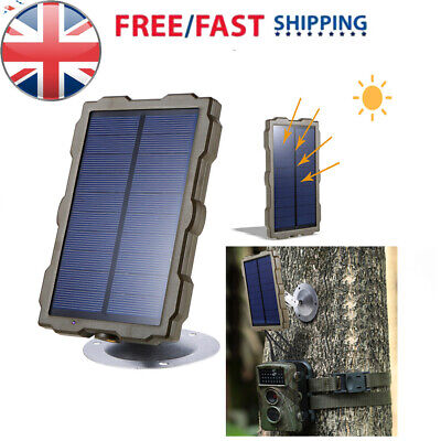 Hunting Camera Battery Solar Panel Charger External Power for Trail Camera R9B0