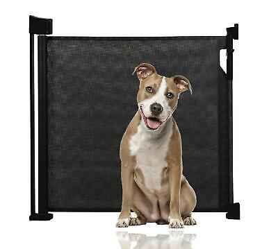 Extra Wide Retractable Mesh Advanced Fabric Pet Gate Dog Barrier 140cm(w)