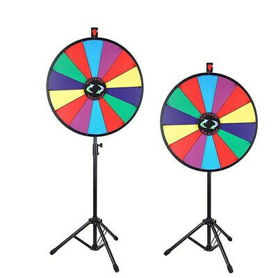 "24"" Prize Wheel Tripod Spinning Folding Stand Dry Erase Fortune Game Carnival"
