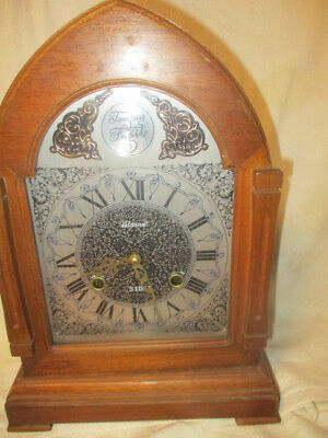 Vintage  Tempus Fugit Mantel Clock 31 Day Chime w/ pendulum & key